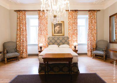 Eine der Suiten des Schloss Ernegg in Niederösterreich
